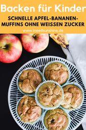 Muffins de plátano y manzana: receta saludable, ¡perfecta para niños!   – Essen & Trinken / Eat & drink