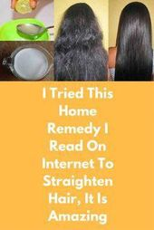 I Tried This Residence Treatment I Learn On Web To Straighten Hair, It Is Wonderful