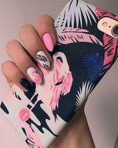 Flamingo-Nägel #Nägel #Maniküre #Schön #Mannheim #Neuheit #Mode   – Nagel Ideen