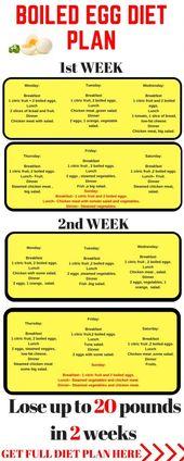 The Hard Boiled Egg Diet  Week Plan Infographic  Breakfast