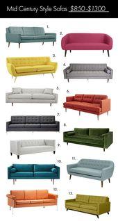 Der ultimative Sofaguide im Mid-Century-Stil – #Cen …