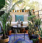 45 Wunderschönes kleines Apartment mit Balkon als Dekoration – Diy und Deko – Balkon ♡ Wohnklamotte