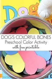 Bunter Tag des Hundes: Farbabstimmung – Crafts for kids