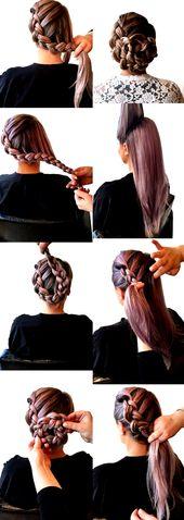 einfache-frisuren-lange-glatte-haare-zopf-frisur-selber-machen-damen
