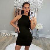 2019 Women Sexy Dress Summer Sleeveless Sling Dress Business Vestidos Tight Part…