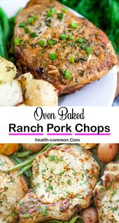 Easy Recipe for Dinner : Baked Ranch Pork Chops !
