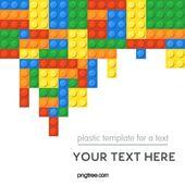 Handgemalte Lego-Blöcke Puzzle dekorative Grenze Unterhaltung spielen Illu …   – lego illustration