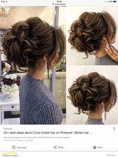 Elegantes Haar zur Seite Hochzeit Frisuren #brautfrisuren2018 #brautjungfern #ha… – Haare