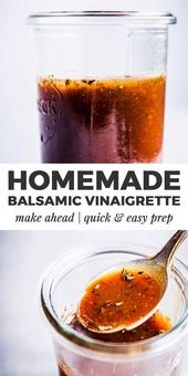 This Balsamic Vinaigrette Dressing is what you'll want to add to all your sala… – Salat | salad