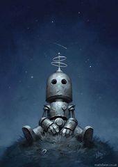 Matt Dixon zeichnet melancholische Roboter, die ihren Platz in der Welt suchen   er WALL·E mag, wird auch die Roboter aus der digitalen Feder von Mat…