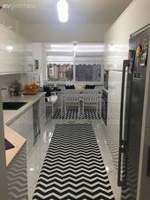 Modern stile siyah, beyaz kontrastı. Zeynep hanımın yeni mutfağı. – 1