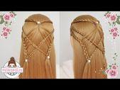 Geflochtene Frisuren mit lockerem Haar - Teilweise für Mädchen ausgewählt - YouTube