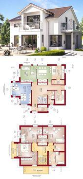 Einfamilienhaus Neubau mit Satteldach Architektur …