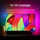 R$ 52.73 40% de desconto DIY Ambilight TV PC Tela Sonho WS2812B HDTV Monitor de Computador Backlight USB Tira CONDUZIDA Endereçável Tira CONDUZIDA 1/2 /3/4/5 m Conjunto Completo-in Tiras de LED from Luzes e Iluminação on Aliexpress.com   Alibaba Group