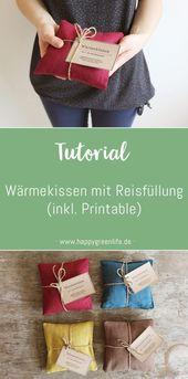 Instructions de couture: coussin chauffant avec remplissage de riz (y compris imprimable)