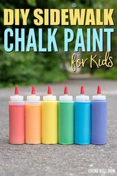 DIY Sidewalk Chalk Paint for Kids in Less than 5 Minutes  – Kids Activities