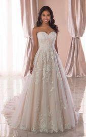Garden Inspired A Line Bröllopsklänning – Stella York Wedding Dresses Garden …