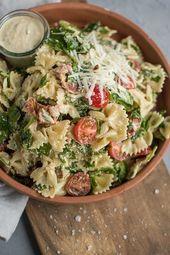 Caesar Pasta Salad ⋆ Crispy Stew