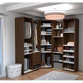 Laurel Foundry Modern Farmhouse Sampson Deluxe Corner Walk 70″ W Closet System | Wayfair