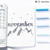 FABULOUS November Bullet Journal Themes {Cover pag…
