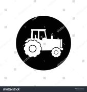 Agriculture Farming Tractor Rounded Icon Editable Stock Vector (Royalty Free) 1693484026