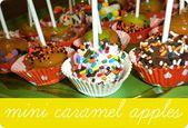 Verwenden Sie einen Melonenballer in Mini Caramel Apples. So hübsch! – Spaß mit …   – Make Good Things