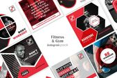 Ad: Fitness & Gym Social Media Pack by ZAAS on Creative Market. GYMNASIUM SOCIAL…