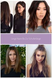 Long hair to shoulder length #hairstyle medium #stufenschnitt #vorherherher #bob #blondeha