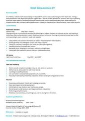Retail Cv Template Cv Template Retail Resume Manager Resume