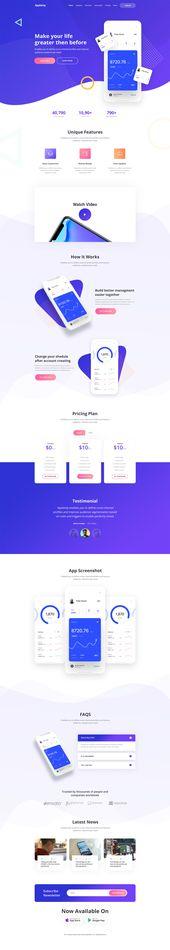 Plantilla de sitio web PSD de App Landing   – Website PSD templates