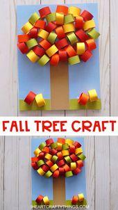 Wunderschönes 3D Fall Tree Craft für Kinder