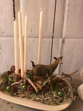 Ich freue mich, Ihnen den neuesten Artikel in meinem # etsy-Shop vorstellen zu können: Geste …   – Kränze Türkranz Weihnachten