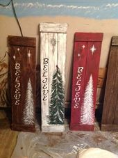 Christmas Wooden Signs #WoodWorking