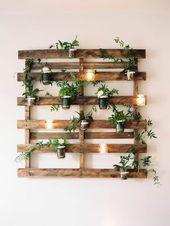 ▷ 1001+ idées pour la construction d'un mur végétal en palette