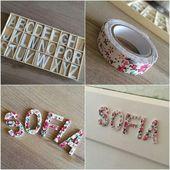 Décoration lettres avec masking tape – #Avec #dec…