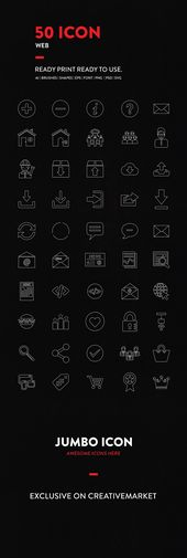 50% 0ff now!! JI-Line Web Icons Set by Jumbo Icons on Creative Market