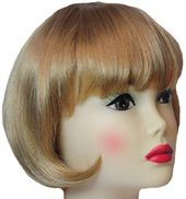 Brown Blonde Straight Hair Women Adult Bob Wig Costume Accessory - 33790162