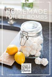 Homemade Toilet Bomb Fizzies – Toiletten reinigen und desodorieren   – Health, Home, Beauty – Recipes&Tutorials