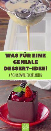 Chocolates de chocolate: combinando chocolate y deliciosos cubitos de hielo en uno …   – Desserts – Nachtisch – Nachspeise