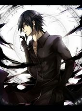 Anime Guy With Black Hair And Yellow Eyes Cool Anime Guys Anime Guys Cute Anime Guys