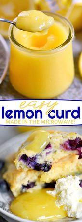 Einfaches Rezept für Zitronenquark