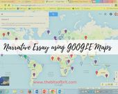 Google Maps Narrative Essay Assignment. Common Core. High School English Lang Arts, Teaching, Technology, Educational Technology.