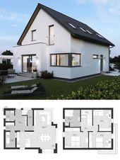 Modernes Einfamilienhaus mit Satteldach Architektur & Erschließung – Gebäude …   – Projects to try