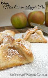 Einfache Mini-Karamell-Apfelkuchen. Sie werden erstaunt sein, wie einfach und lecker diese sind! …   – desserts