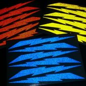 Red Lightning Bolt Bicycle Reflective Stickers Decal