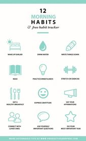 12 morning habits that are worth developing - #the # developing # ... - #develop... 1