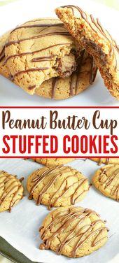 Peanut Butter Cup Stuffed Cookies