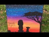 Zeitrafferzeichnung   Der König der Löwen von Disney   Acryl auf Leinwand – YouTube