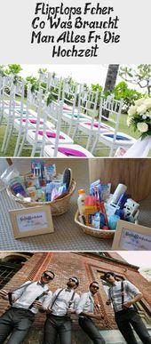 Flipflops, Fans & Co. – Was braucht es für die Hochzeit?   – Dekoration
