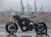 zwei yamaha XV920 motorräder von moose motodesign verkörpern gut und böse   – Bikes